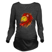 Whimsical Leo Long Sleeve Maternity T-Shirt