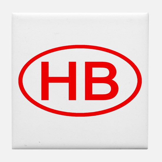 HB Oval (Red) Tile Coaster