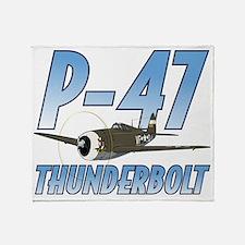P-47 Thunderbolt Throw Blanket