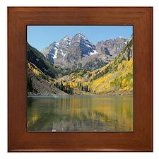 Mountain Lake Framed Tile