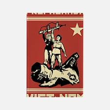 Vietnam vintage Propaganda Rectangle Magnet
