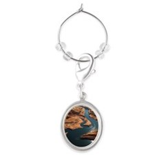 Glen Canyon National Recreation Ar Oval Wine Charm
