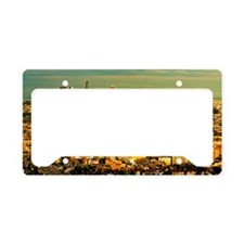 Los Angeles cityscape License Plate Holder