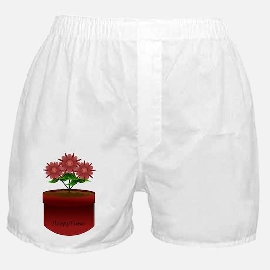 red flower pot, babyfaces fllowers Boxer Shorts