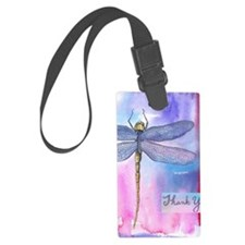 Dragonfly Thank You Luggage Tag