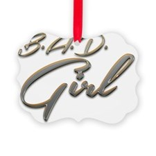 Bad Girl logo 3 Ornament