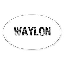 Waylon Oval Decal