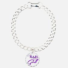 Purple Bad Girl logo Bracelet