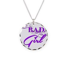Purple Bad Girl logo Necklace