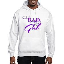 Purple Bad Girl logo Hoodie