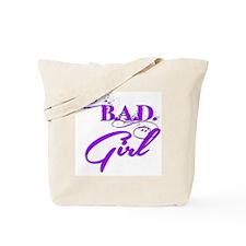 Purple Bad Girl logo Tote Bag