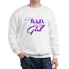 Purple Bad Girl logo Sweatshirt