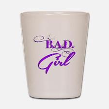Purple Bad Girl logo Shot Glass