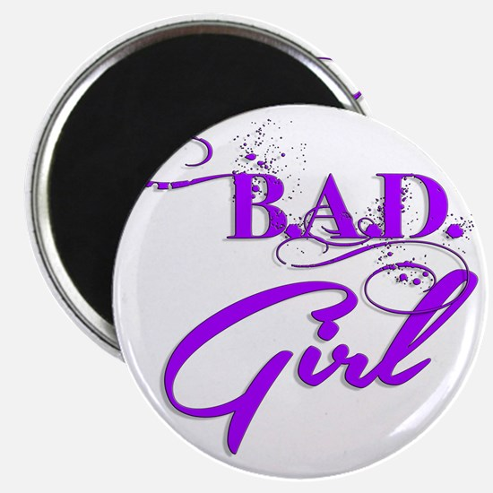Purple Bad Girl logo Magnet