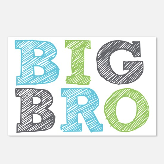 Sketch Style Big Bro Postcards (Package of 8)