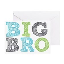 Sketch Style Big Bro Greeting Card