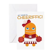 Cheerleader Susan Greeting Card