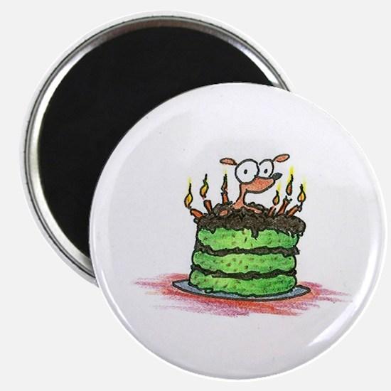 weiner dog on a birthday cake Magnet