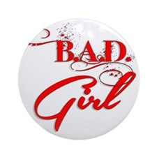 Red Bad Girl logo Round Ornament