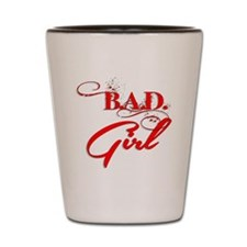 Red Bad Girl logo Shot Glass