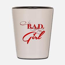 Red Bad Girl logo Shot Glass
