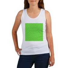 Bright Green and White Polka-dot Women's Tank Top