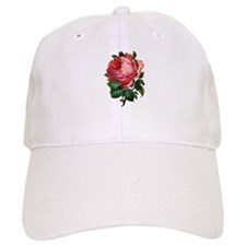 Victorian Red Rose Baseball Cap