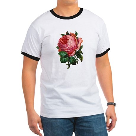 Victorian Red Rose Ringer T