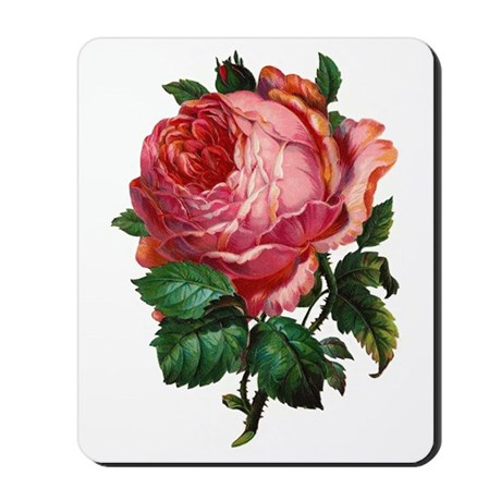 Victorian Red Rose Mousepad