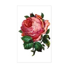 Victorian Red Rose Rectangle Decal