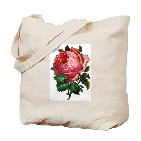 Victorian Red Rose Tote Bag