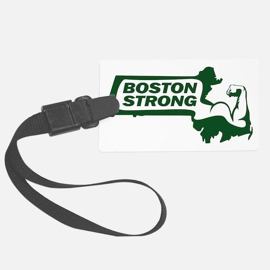 Boston Strong Bicep Green Luggage Tag