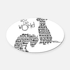 Change the World Oval Car Magnet
