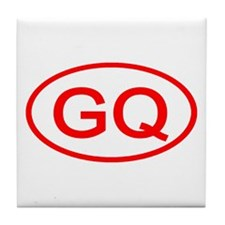 GQ Oval (Red) Tile Coaster