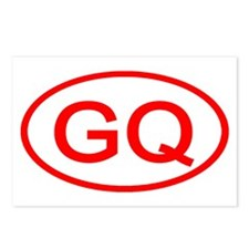 GQ Oval (Red) Postcards (Package of 8)