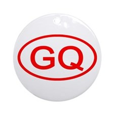 GQ Oval (Red) Ornament (Round)