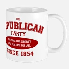 Republican Since 1854 (red print, oval) Mug