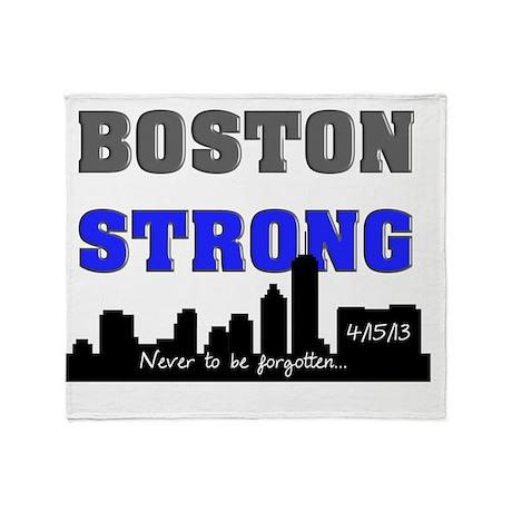 boston strong 60 blue Throw Blanket