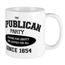 Republican Since 1854 (black print, ova Mug