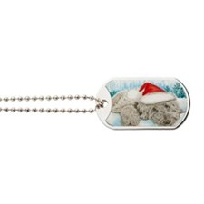 Christmas Labradoodle Dog Tags