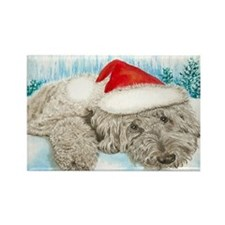 Christmas Labradoodle Rectangle Magnet