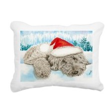 Christmas Labradoodle Rectangular Canvas Pillow