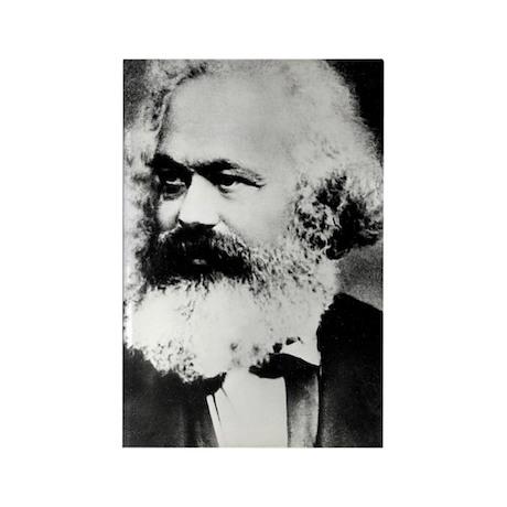 Portrait of Karl Marx Rectangle Magnet