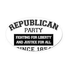 Republican Since 1854 (black print Oval Car Magnet