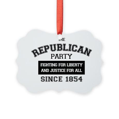 Republican Since 1854 (black prin Picture Ornament