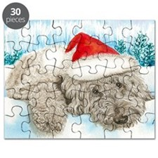 Christmas Labradoodle Puzzle