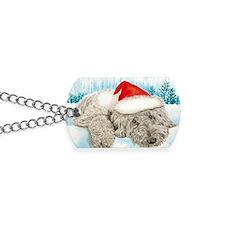 Christmas Labradoodle Dog Tags