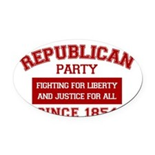 Republican Since 1854 (red print,  Oval Car Magnet