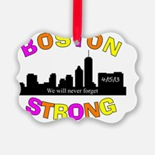 BOSTON STRONG CURVED 3 Ornament