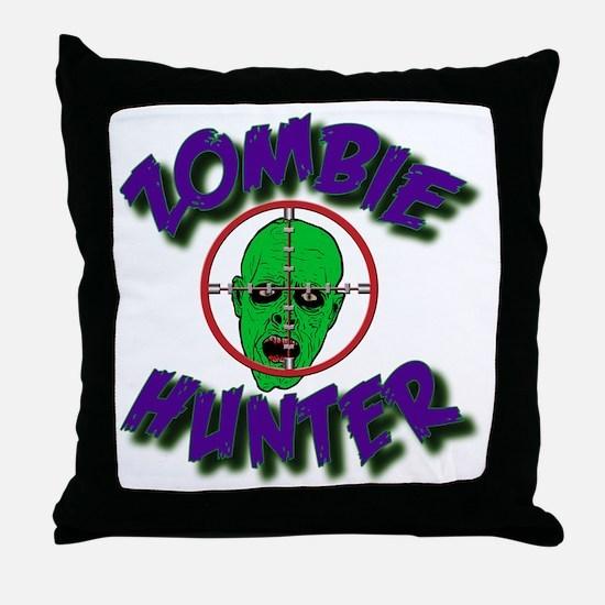 Zombie Hunter #1 Throw Pillow